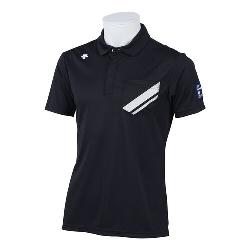DESCENTE GOLF (デサントゴルフ)・【BLUE LABEL】【MOTION3D】ライジングプリントシャドーボーダーシャツ