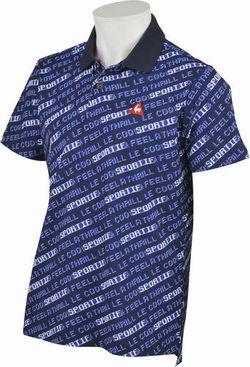 le coq sportif GOLF (ルコックゴルフ)・8bitロゴプリント半袖シャツ