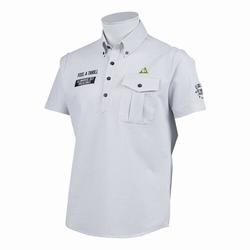 le coq sportif GOLF (ルコックゴルフ)・プライムフレックスシャドーストライプサッカー半袖シャツ