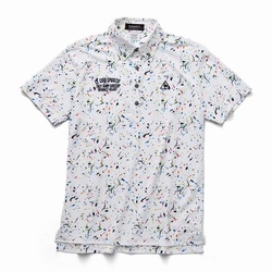 le coq sportif GOLF (ルコックゴルフ)・サンスクリーンスプラッシュプリント半袖シャツ