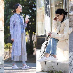 春の公園コーデはこれで決まり!大人女性が「白スニーカー」を選ぶ理由